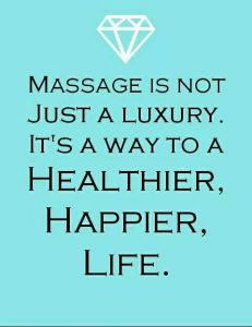 Massage is not just a luxury. It's a way to a healthier, happier life. Quote bij blogartikel.